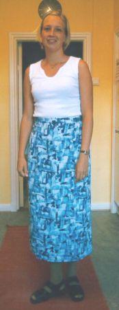 Syprojekt 15 Enkel omlottkjol i tyg från Trinidad-Tobago
