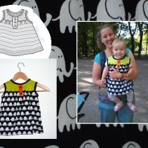 Syprojekt 176 Barnklänning med mönster från Ottobre och mjuka jerseytyger från Stoff og Stil