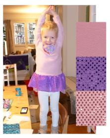 Syprojekt 181 Vintern är i antågande men grabben vill ha en ballerinadräkt. Vad göra, han måste ju hålla sig varm?! Well, rosa fleece och paljettyg tillsammans med ett glittrigt hjärtbroderi i halsringningen och både mor och son är nöjda.