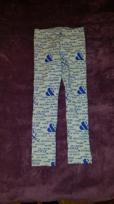 Syprojekt 226 Leggings med text