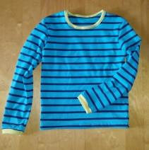 Syprojekt 237 Helt vanlig slät randig tröja. Ekotextil. Mönster Creative Workshop, tyger Stoff og Stil.