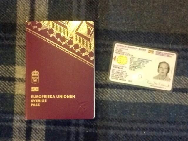 hämta ut pass utan id