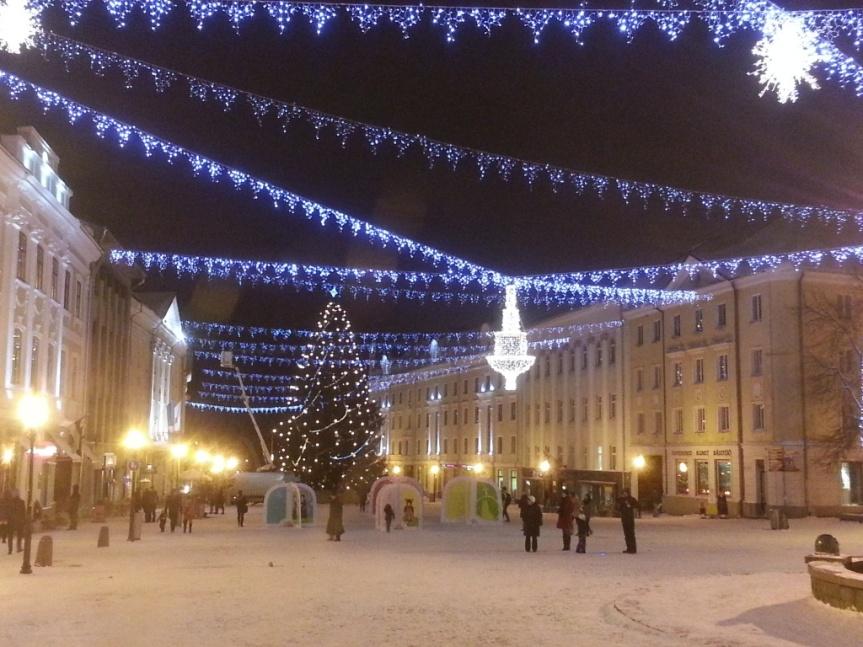 Julstämning så det förslår, oerhört vackert i den glittrande nyfallna snön