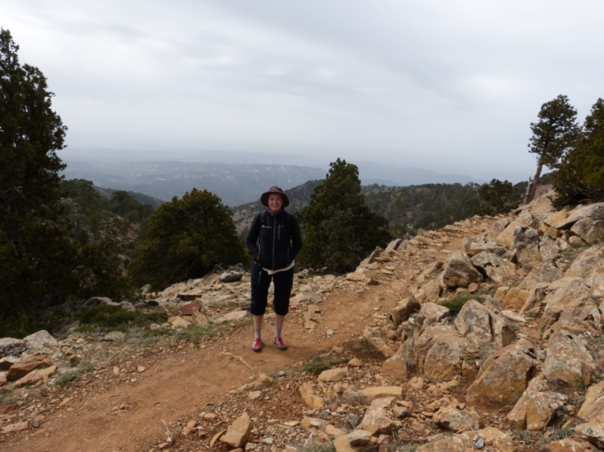 Artemis Trail ligger ganska högt, runt 1900 m