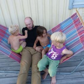Vi träffade Fredrik &co igen, den här gången hemma hos Thomas och Åsa.