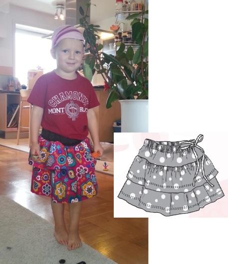 Syprojekt 197 Han ville ha en ny kjol. Så då fick han det. Mönster från Ottobre.