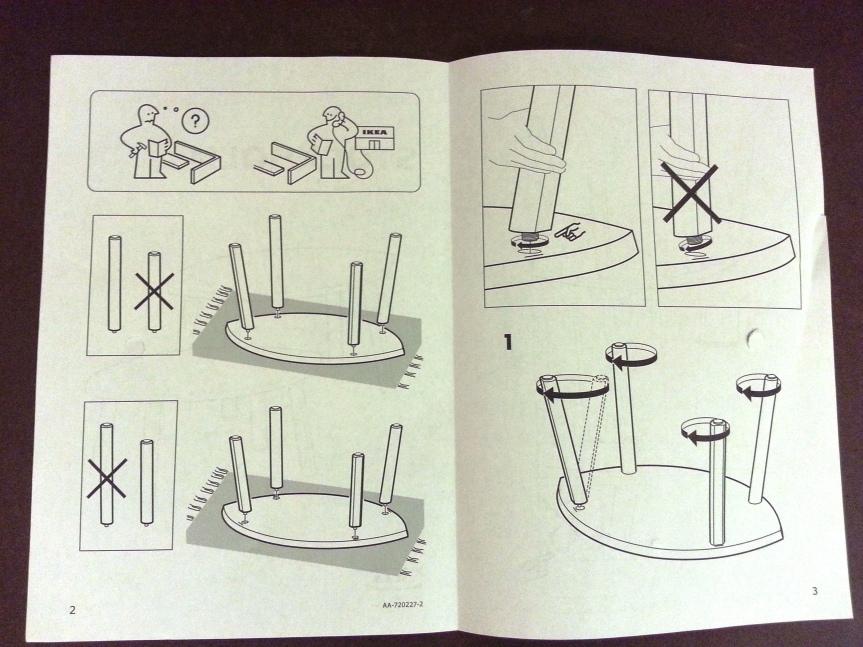 IKEA Stockholm, monteringsanvisning
