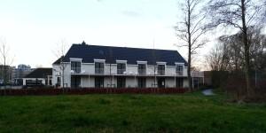 Tidig morgoncachetur i parken utanför Hotell De Sniep i Zoetermeer, Nederland