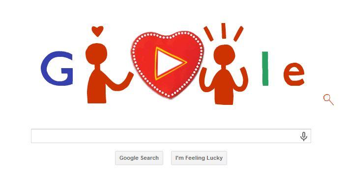Valintine's google doodle