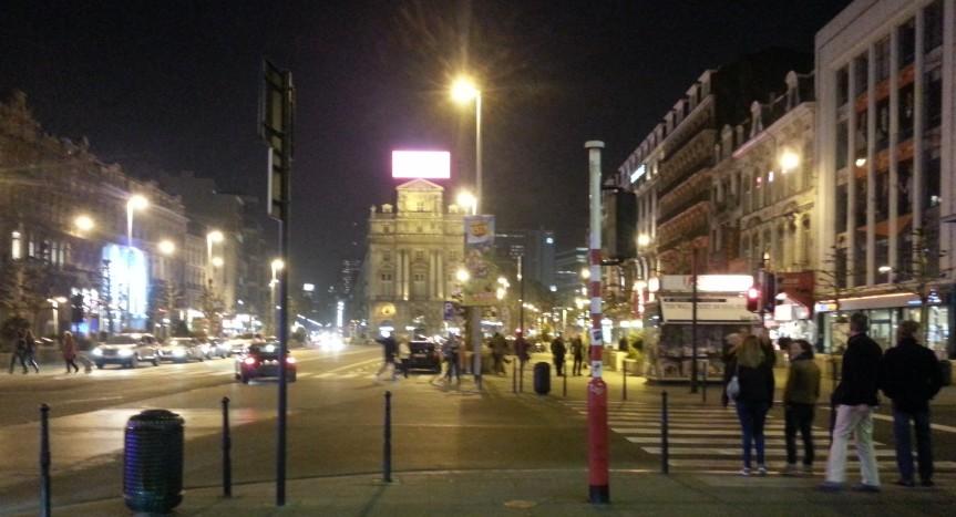 Bryssel by night