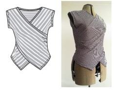 Syprojekt 207 Randigt linne i fantastiskt mjuk bomullsjersey från Stoff og Stil. Mönstret är från Ottobre nr 2 2012