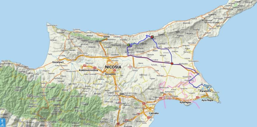 Tur from Paralimni till Kyreniabergen