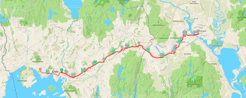 46 km Lillestrøm