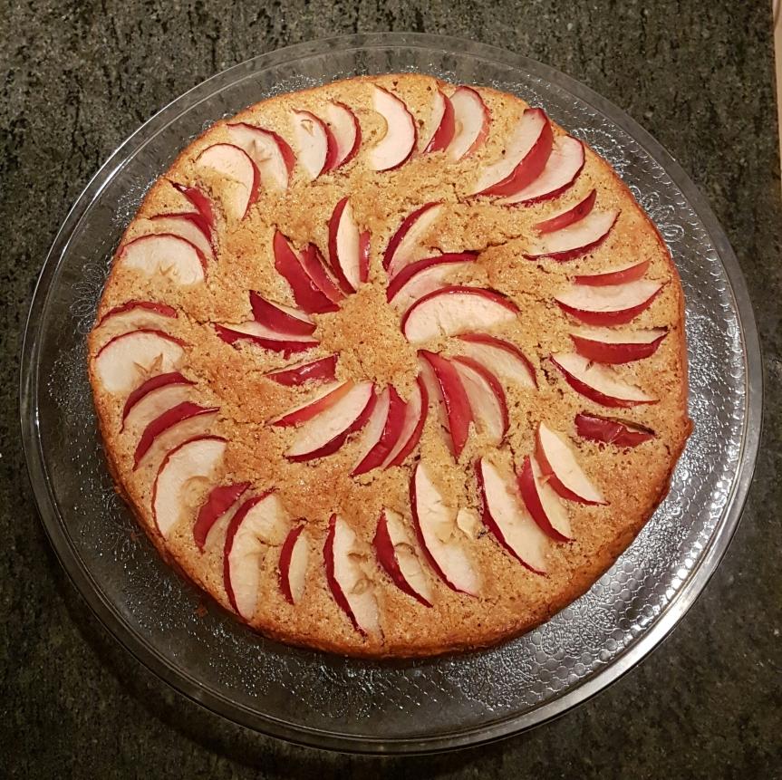 Äppelkaka med vitchoklad