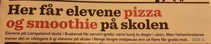 Norsk skolmat – enpulshöjare!