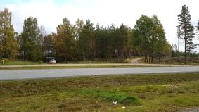 Den här rastplatsen har en avtagsväg som används, då får vi inte blockera den...