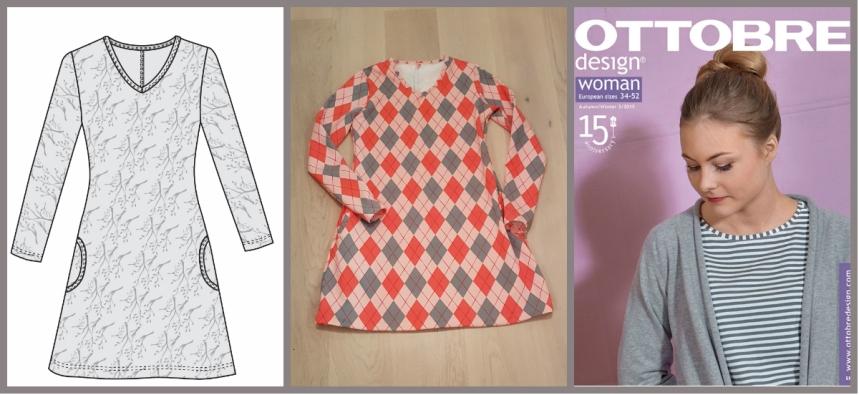 Syprojekt 310 Rutig tunika med fickor. Gjorde fickorna större för jag såg behovet efter förra tunikan med samma mönster.
