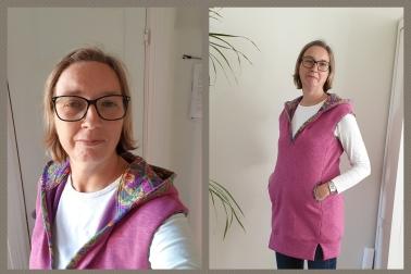 Syprojekt 329, ärmlös skön tröja med huva